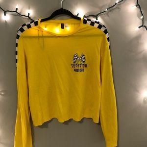 "H&M Yellow ""Superior Motors"" Long Sleeve"